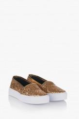 Златни дамски обувки Каприс