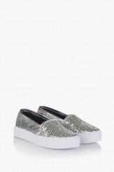 Сребристи дамски обувки Каприс