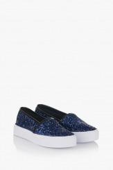 Сини дамски обувки Каприс