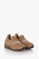 Бежови дамски спортни обувки Белла