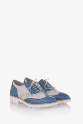 Дамски обувки в синьо и айс Летисиа