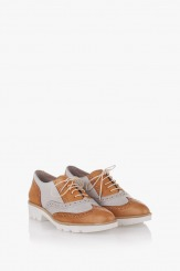 Дамски бежови обувки Летисиа