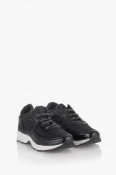 Дамски черни сортни обувки Адона