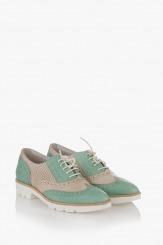Дамски обувки Летисиа е зелено