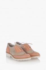 Дамска обувка Летисиа пудра и айс