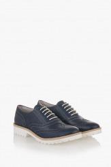Сини дамски обувки Дебора