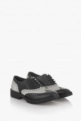 Дамска обувка Дебора черен и айс