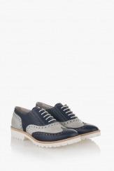 Дамски ежедневни обувки с айс и синьо Дебора