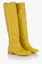 Дамски  летни ботуши  Елена в жълто