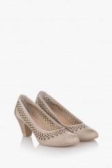 Дамски летни обувки Бриела кожа айс