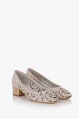 Дамски перфорирани обувки Алма айс
