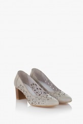 Дамски перфорирани обувки кожа айс Серенити