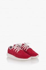 Червени велурени спортни обувки Норма