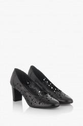Дамски перфорирани обувки в черно Серенити