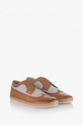 Мъжки летни обувки кожа карамел Джеймс