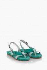 Зелени дамски сандали Санди