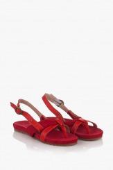 Червени дамски сандали Санди