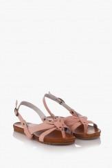 Дамски летни сандали в розово Санди