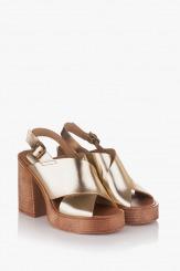 Дамски сандали в злато Фрей