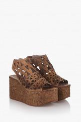 Дамски сандали Фелисити карамел кожа