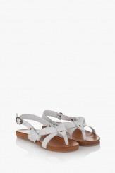 Бели дамски сандали Санди