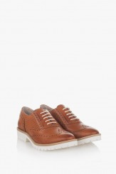 Дамски ежедневни обувки цвят карамел Дебора