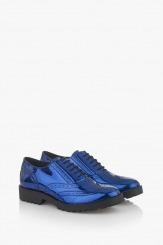 Сини дамски обувки с връзки Лиса