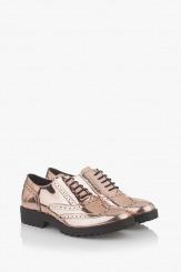 Дамски обувки в огледално злато  Лиса