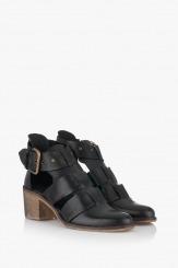 Черни дамски сандали с каишки Бразилия
