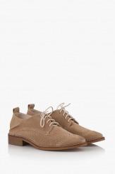 Бежови дамски ежедневни обувки Мини