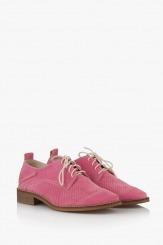 Розови дамски обувки с перфорация Мини