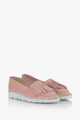 Дамски велурени обувки пудра Джери