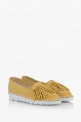 Жълти велурени дамски обувки Джери