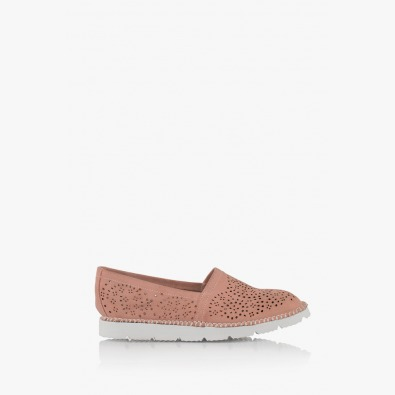 Велурени дамски обувки с перфорация Джери