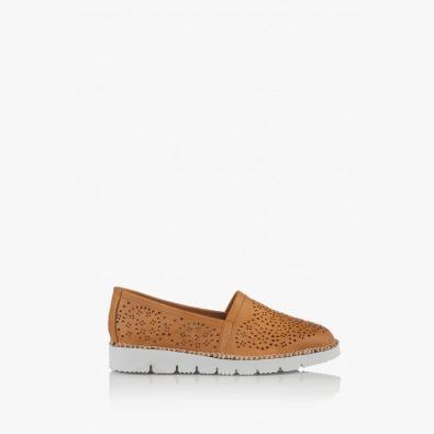 Дамски кожени обувки с перфорация Джери