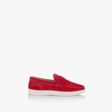 Червени мъжки велурени обувки Скот