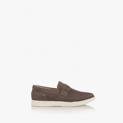 Мъжки велурени обувки в сиво Скот