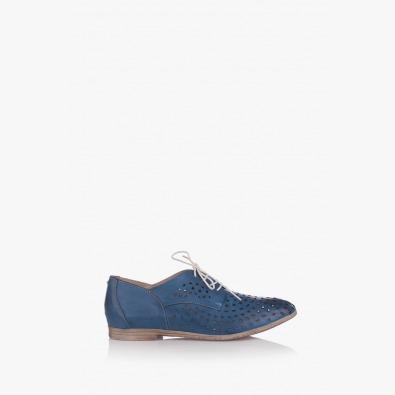 Перфорирани дамски обувки в синьо Канди