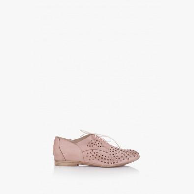 Обувки с перфорация в цвят пудра Канди