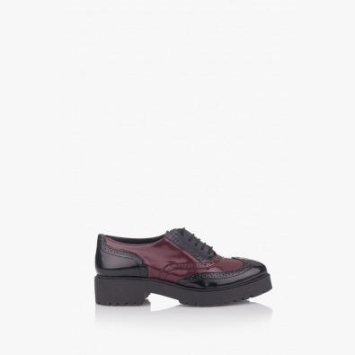 Дамски ежедневни обувки в черно и бордо Грейс