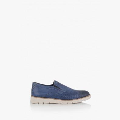 Сини мъжки перфорирани обувки Анди