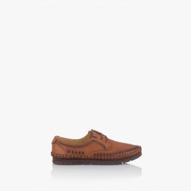 Мъжки кожени обувки с перфорация Крейк