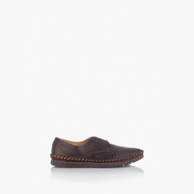 Летни мъжки обувки с перфорация в кафяво Крейк
