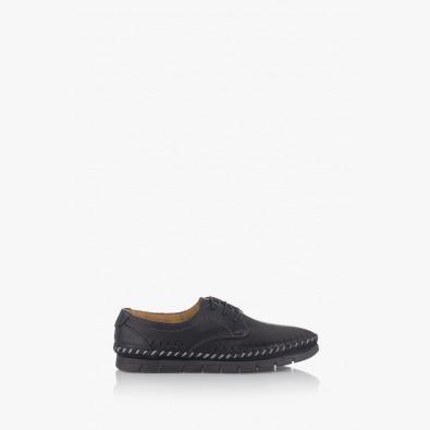 Черни мъжки летни обувки с връзки Крейк