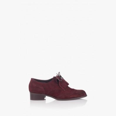 Велурени дамски обувки с аксесоар Шарън
