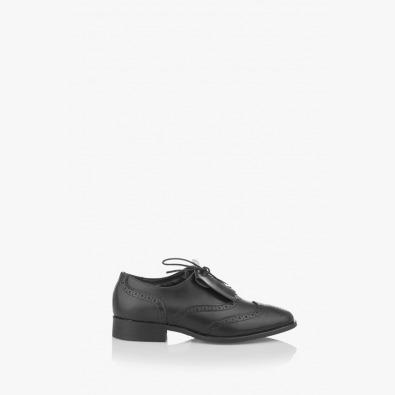 Черни дамски кожени обувки Шарън