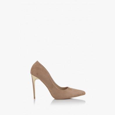 Дамски елегантни обувки на ток Наоми таупе