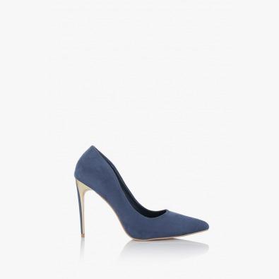 Сини обувки на висок ток Наоми