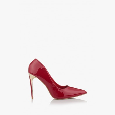 Дамски обувки на висок ток Наоми в червено