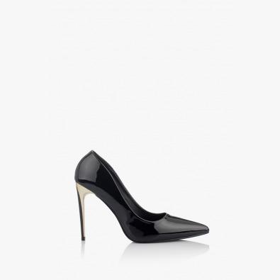 Класически черни дамски обувки на висок ток Наоми